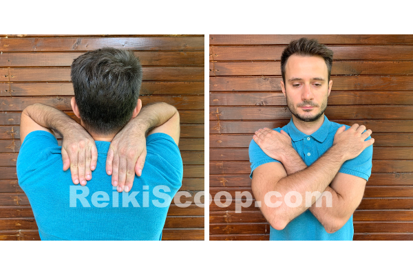 shoulders secondary reiki hand position
